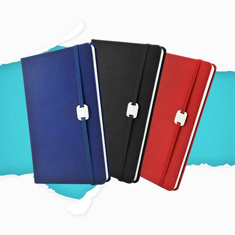 A5 Hard Cover Notebook with Metal Plate | Executive Corporate Gifts Singapore