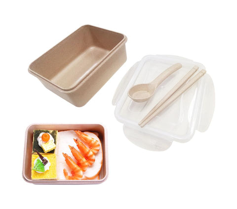 Straw Wheat Lunch Box (No Dividers) | Executive Corporate Gifts Singapore