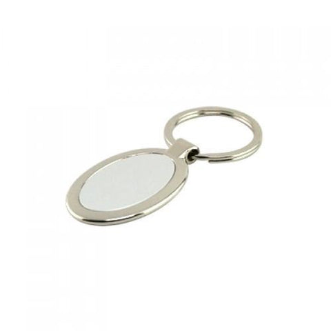 Metal Keychain In Oval Shape | Executive Corporate Gifts Singapore