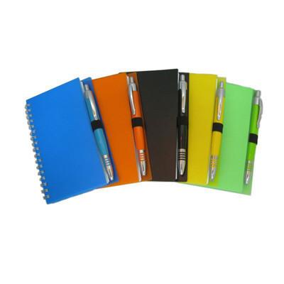 Notebook with Colour Ball Pen Set - abrandz