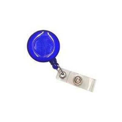 Pull Reel | Opaque Clear Blue Round | Executive Corporate Gifts Singapore