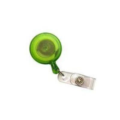 Pull Reel | Opaque Clear Green Round | Executive Corporate Gifts Singapore