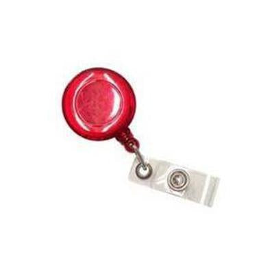 Pull Reel | Opaque Clear Red Round | Executive Corporate Gifts Singapore