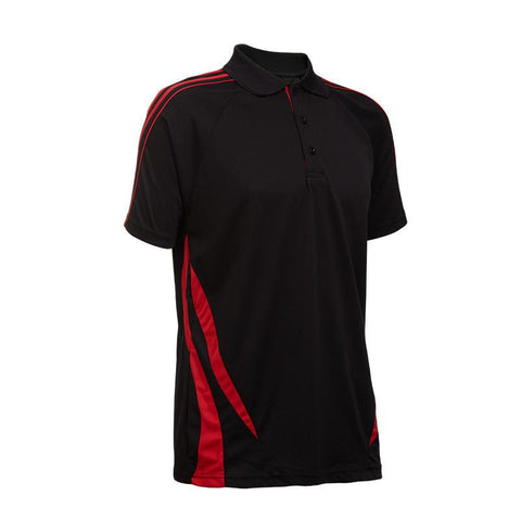 Quick Dry Unisex Polo T-shirt with Stripes accents | Executive Door Gifts