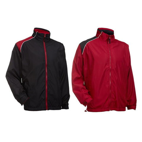 Reversible Windbreaker with Shoulder Accents - abrandz