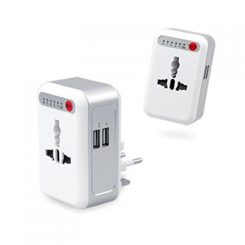 Smart Timing Universal Travel Adaptor With 2 USB Hub | Executive Corporate Gifts Singapore