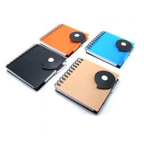 Trendy PP Notebook with Ball Pen - abrandz