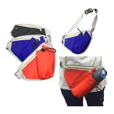 Triangular Waist Pouch with Bottle Compartment - abrandz