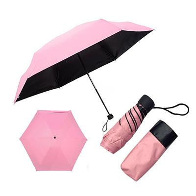 Black Coated Foldable Umbrella
