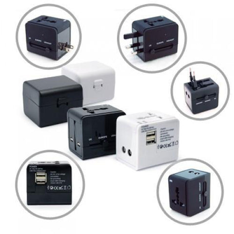 Worldwide Travel Adaptor With 2 USB Hub and Case | Executive Corporate Gifts Singapore