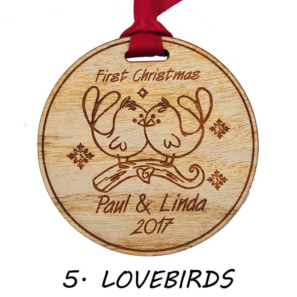 Personalised Wooden Christmas Tree Decorations Giftsremembered