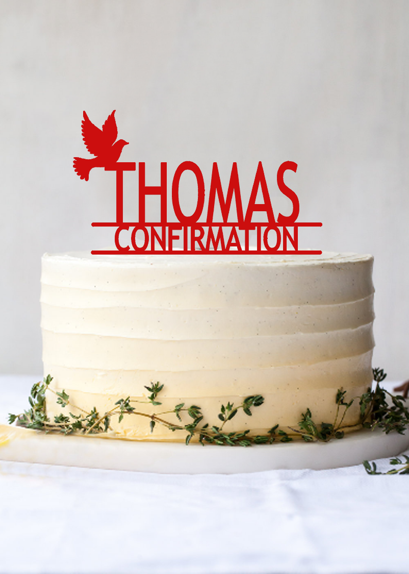 Confirmation Cake Topper Personalized   giftsremembered