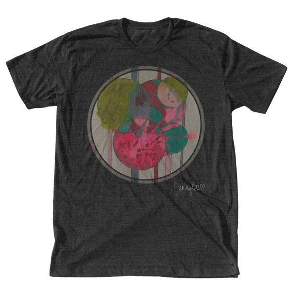 Circles T-Shirt - Vintage Black