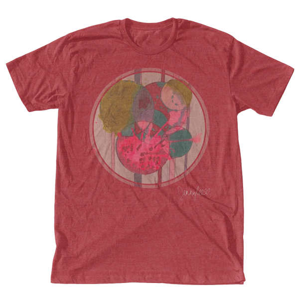 Circles T-Shirt - Vintage Red