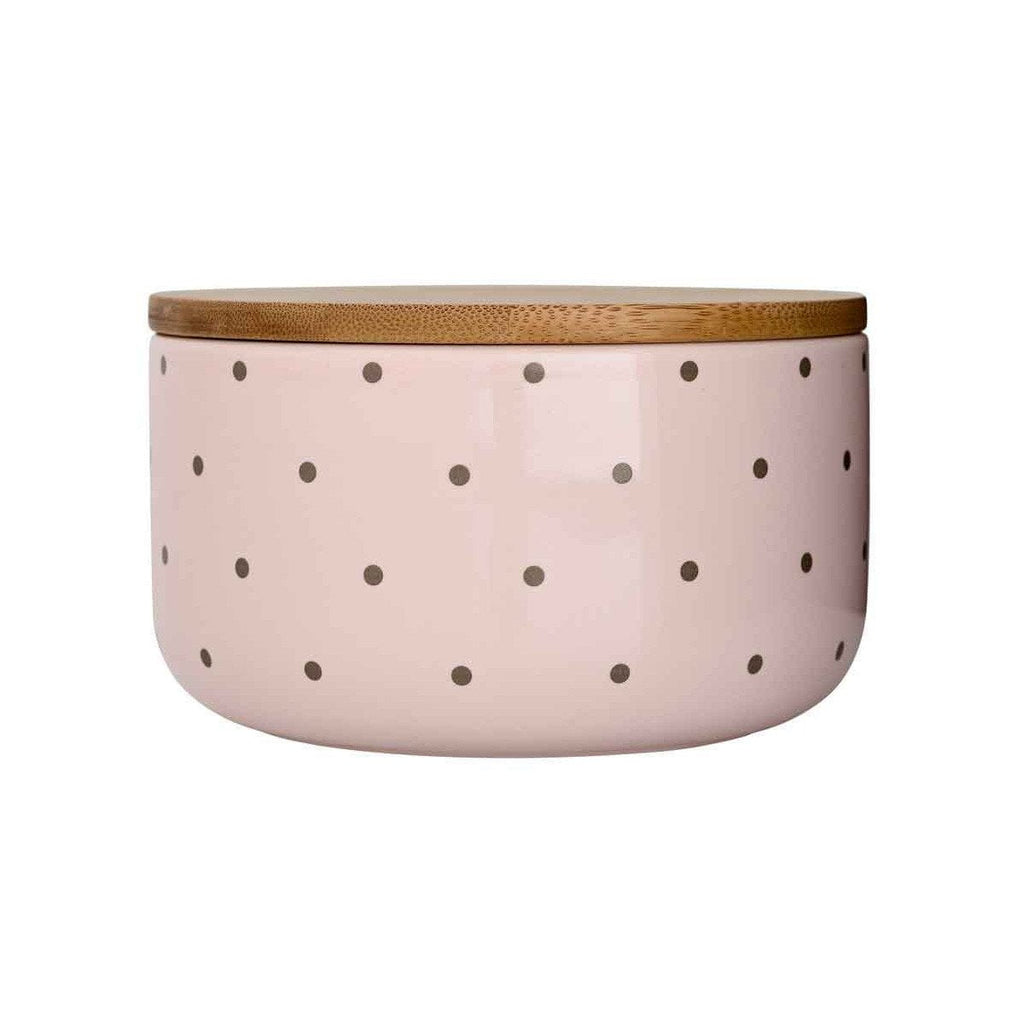 Bloomingville Barattolo In Ceramica Rosa A Pois – DUST/ROSE