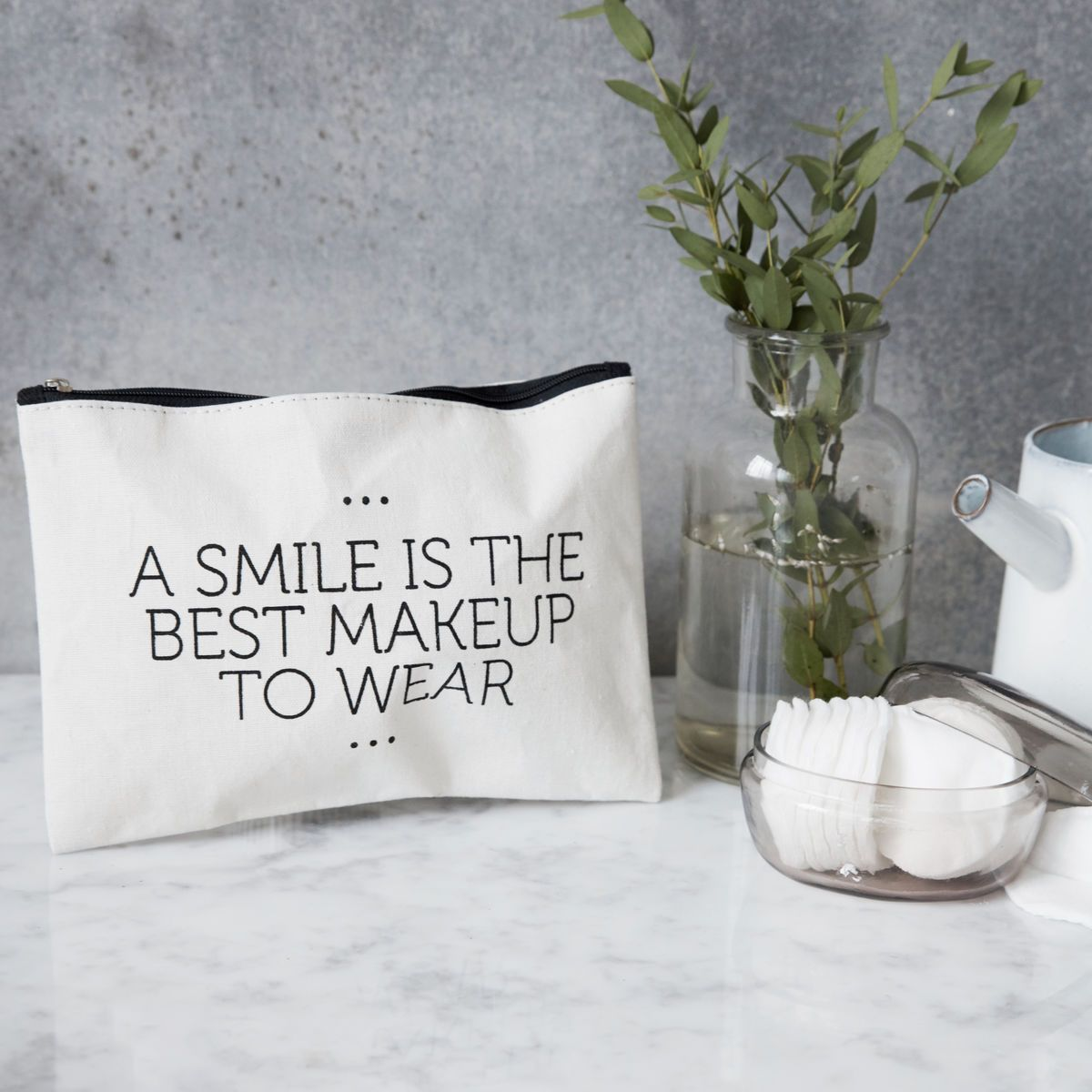 House Doctor Make-up bag trousse Smile