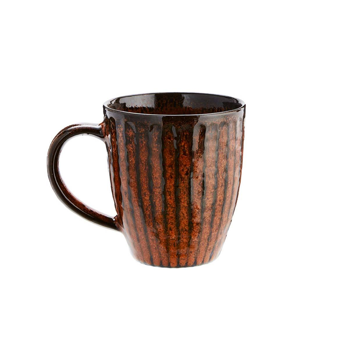 Madam Stoltz Tazza in Ceramica Deep Orange