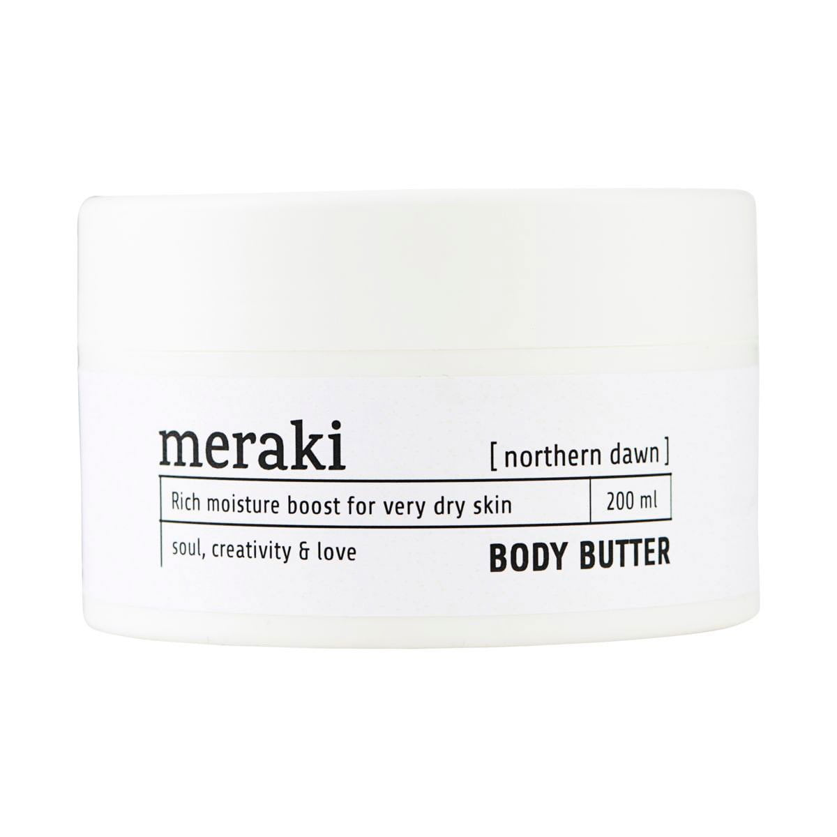 Meraki body butter burro corpo northern dawn