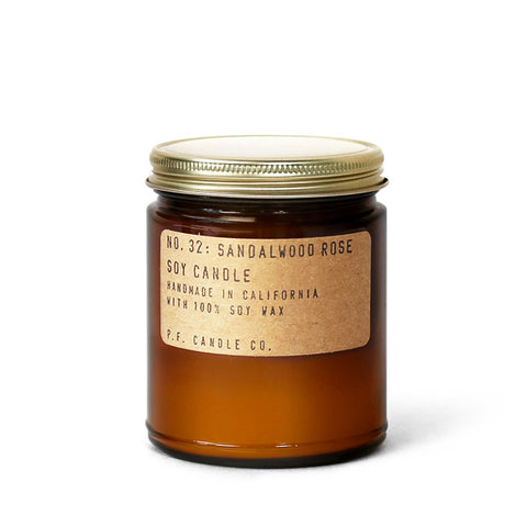 PF Candle Co. Sandalwood Rose Candela di soia Shop Online