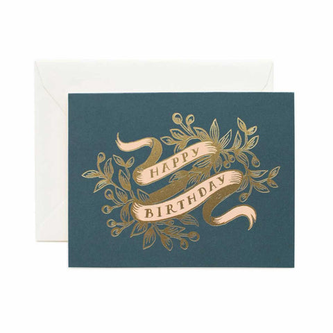 Biglietto di auguri Rifle Paper Co. Happy Birthday dorato
