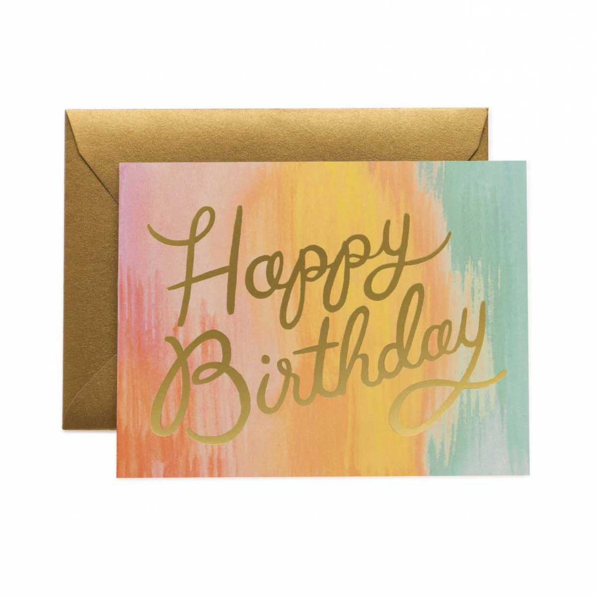 Biglietto di auguri Rifle Paper Co. Happy Birthday multicolor
