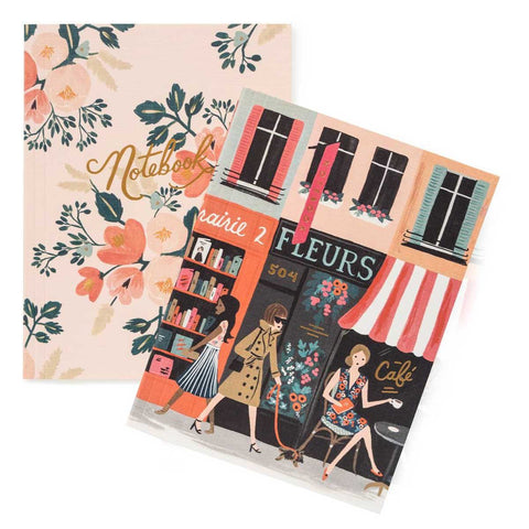 Set di quaderni Rifle Paper Co. fantasia Parigi e fiori rosa