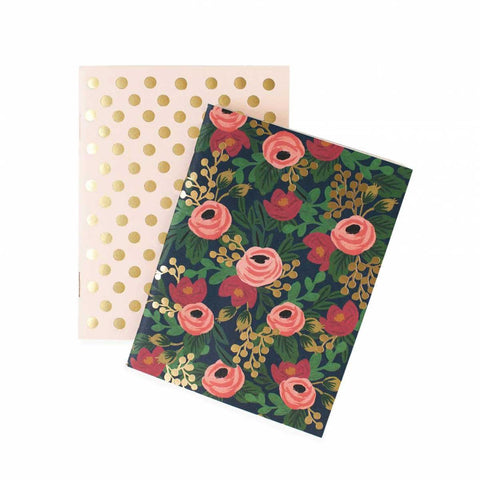Set di taccuini Rifle Paper Co. fantasia pois e rose