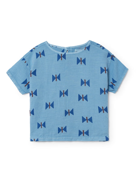 Bobo Choses in Ireland short sleeved butterfly print shirt