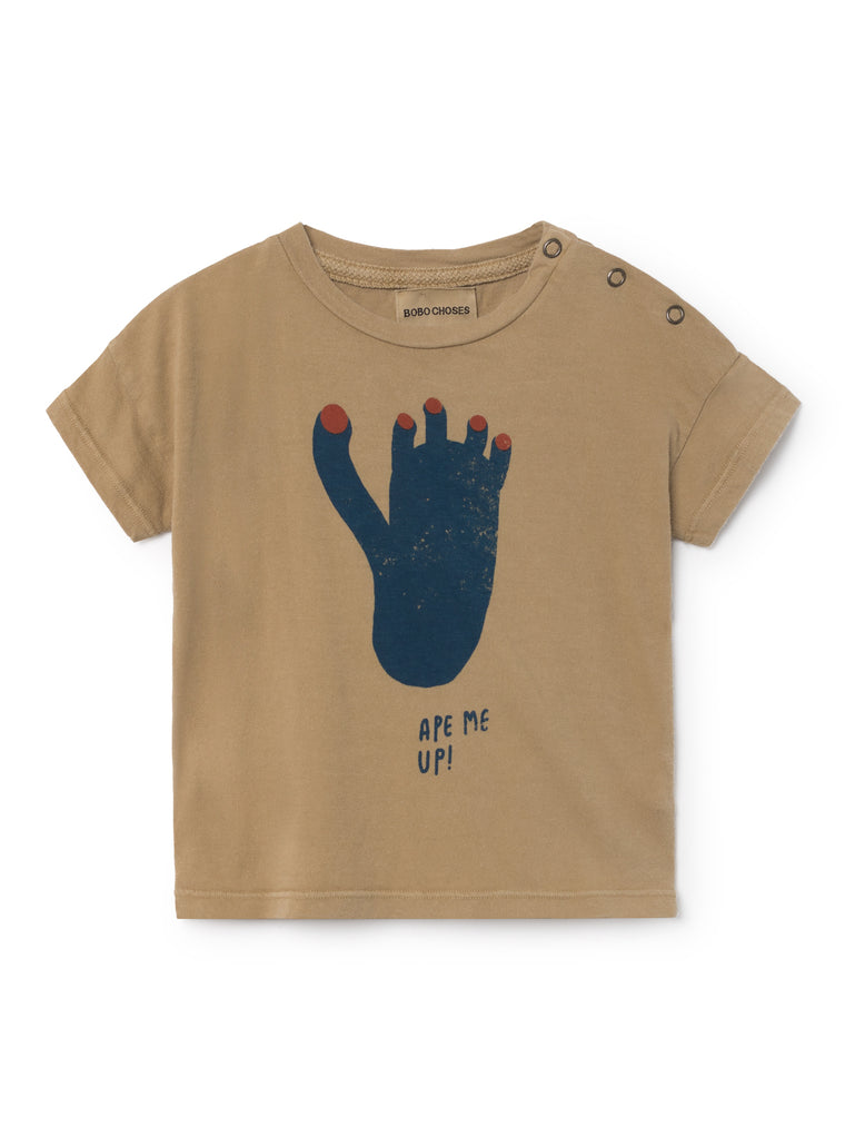 Footprint Short Sleeved Baby T-Shirt