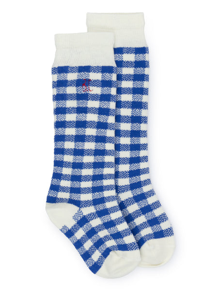 Blue Socks with White Check Bobo Choses in Ireland