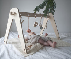 Scandi Baby gym Birch Ply by Loullou