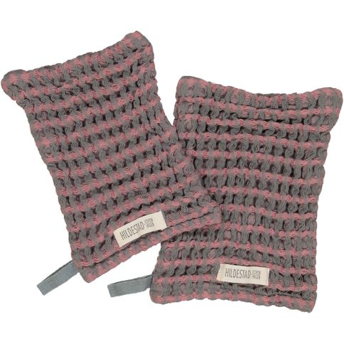Hildestad Copenhagen - Wash Glove Stormy Rose 2 pack