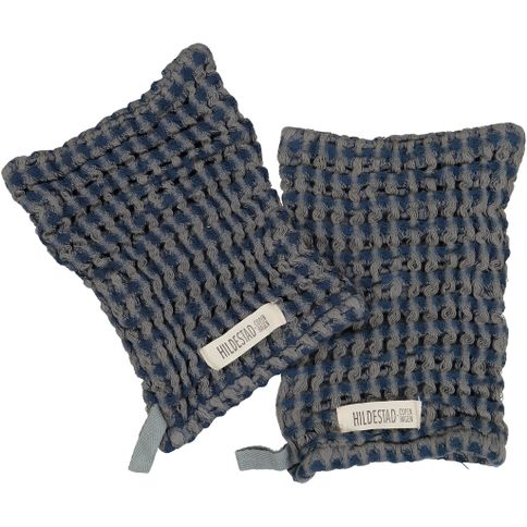 Hildestad Copenhagen - Wash Glove Stormy Blue 2 pack