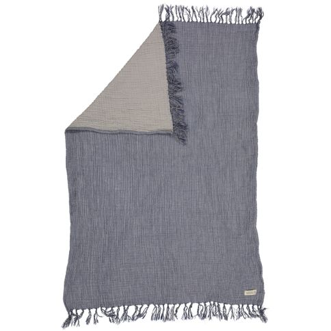 Hildestad Copenhagen - Organic cotton Baby Blanket Grey/Blue