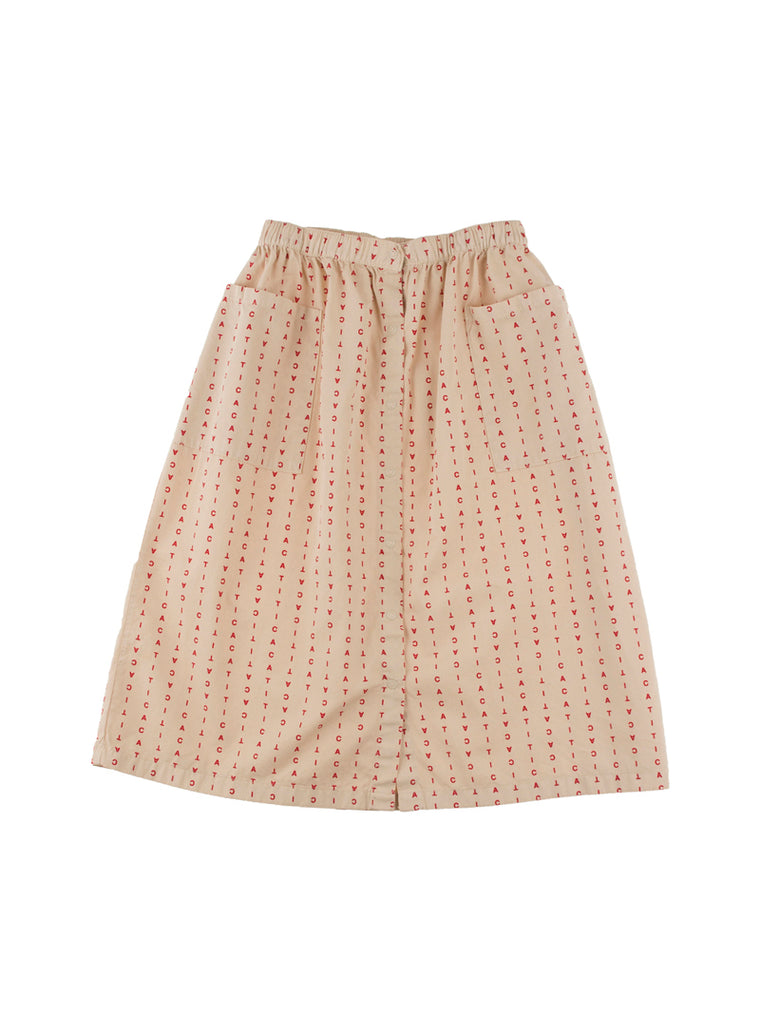 Tiny Cottons - alphabet soup button-down woven skirt