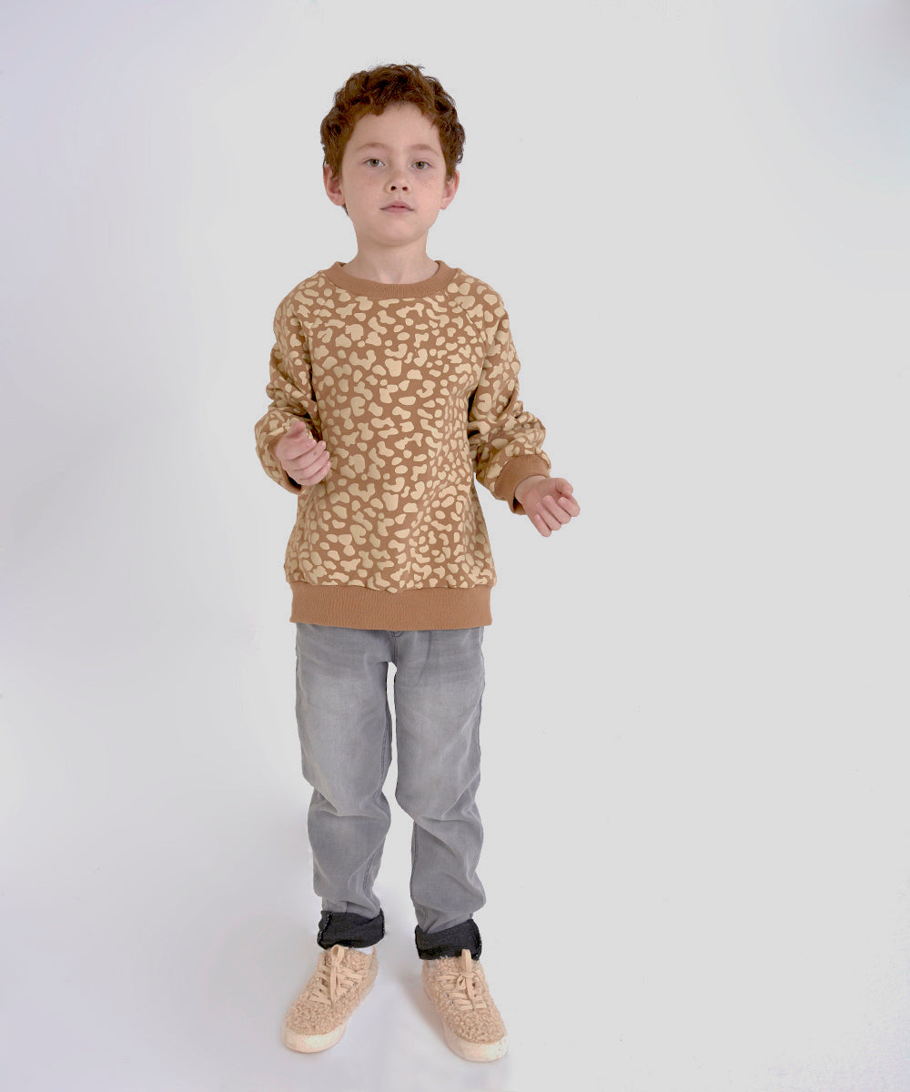 Milk and biscuits asymmetric  sweatshirt available in ireland tabby print cat sweatshirt 100% cotton