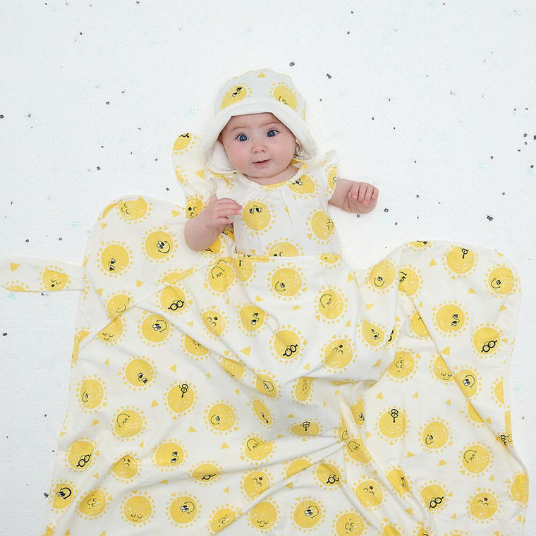 Sunshine Baby Blanket with Hood