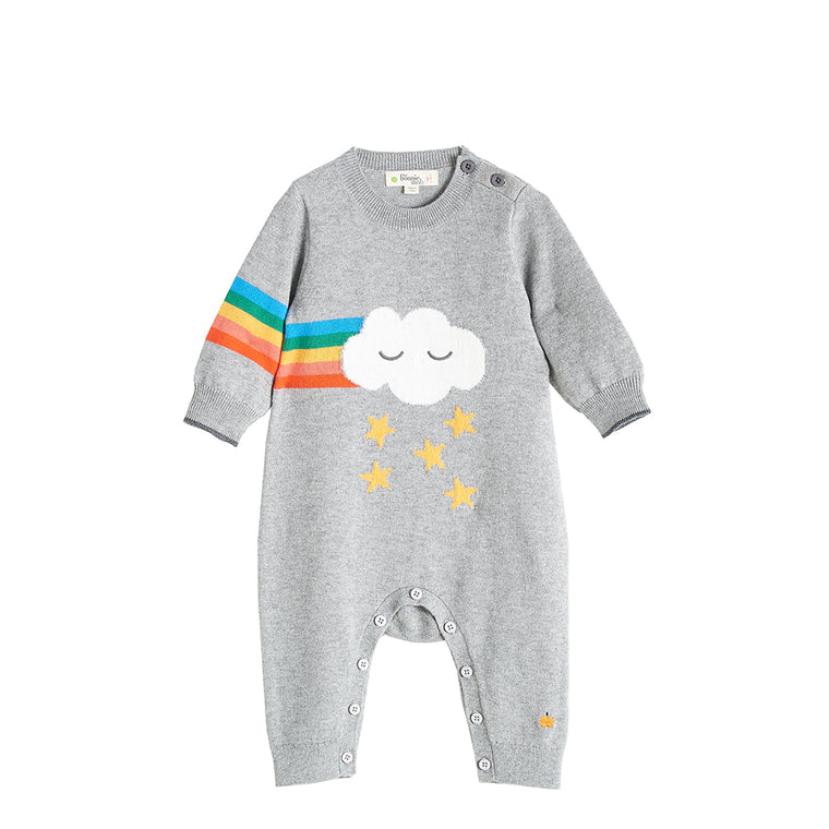 Rainbow Cloud Cashmere Playsuit Grey