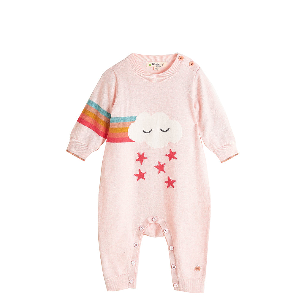 Rainbow Cloud Cashmere Playsuit Pale Pink