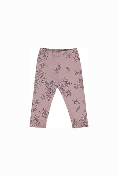 This beautifully illustrated baby leggings are soft and comfortable and perfect for babies to move freely in.   Rich tones of mauve with delicate leaf print.