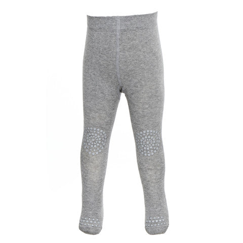 Go Baby Go - Crawling Tights Grey Melange
