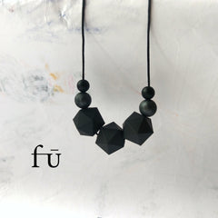 Modern fashion forward silicone teething necklaces. Irish jelly design for modern fashion conscious mums.