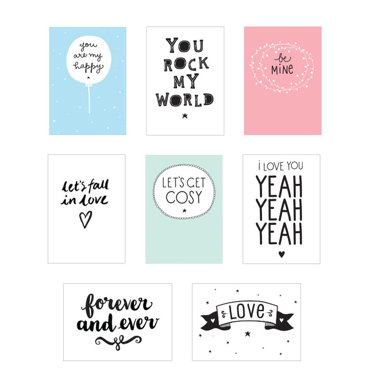 Light Box Sheets 8 Pack Love
