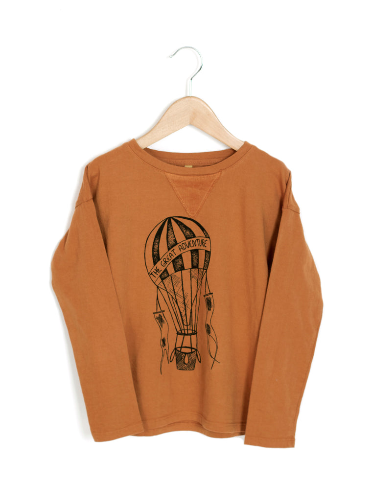 Long Sleeved Tee Caramel - Organic Cotton