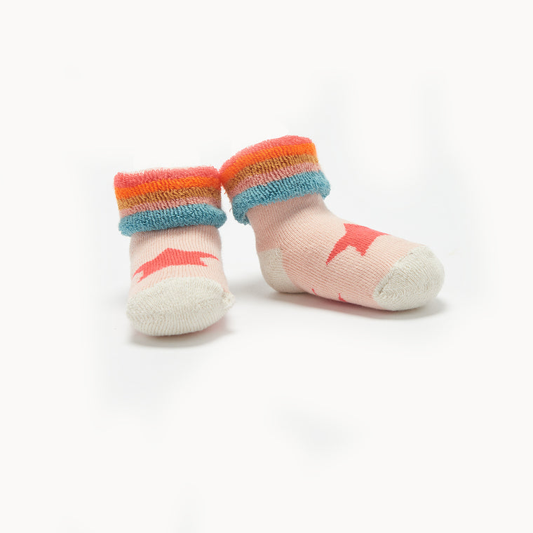 Pink Star and Rainbow Baby Socks
