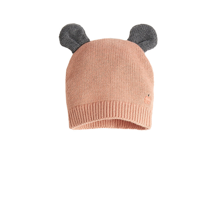 Baby Hat with Ears Powder Pink