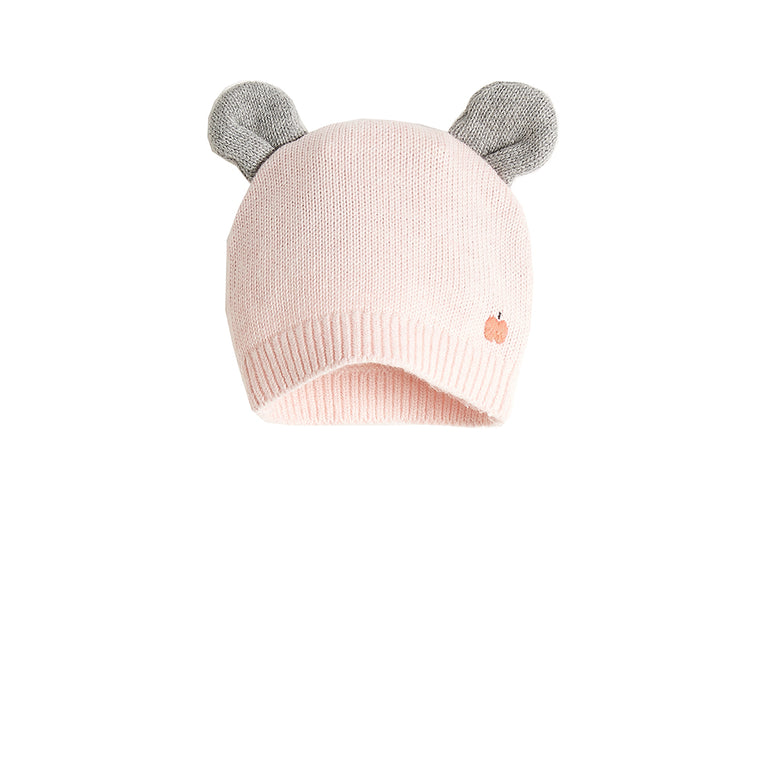 Baby Hat with Ears Pale Pink