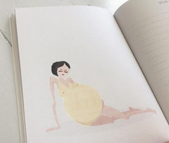 A simple yet beautifully illustrated pregnancy journal to record the pregnancy journey. Mie Frey Danish designer Irish stockist