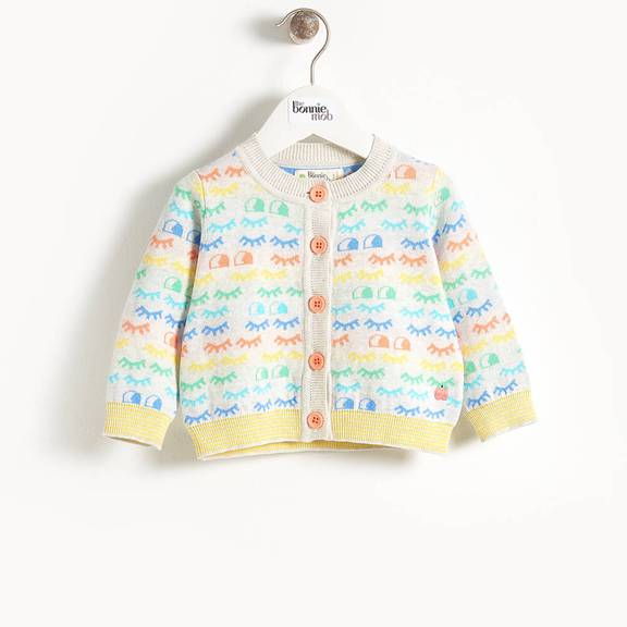 Jacquard Cardigan Rainbow Eyes