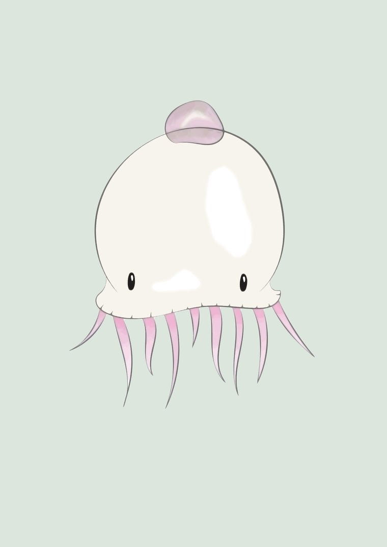 Born Lucky - Jellyfish Print